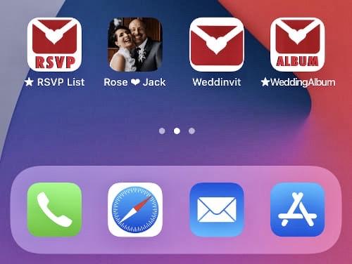 Get Weddinvit from iOS app store